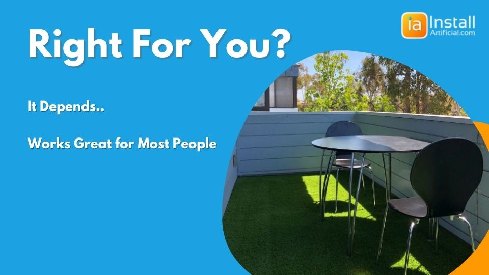 determine if your balcony rooftop or patio is good for artificial grass