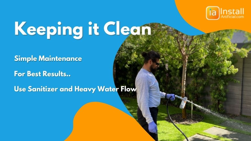keeping the k9 pet-friendly artificial grass clean