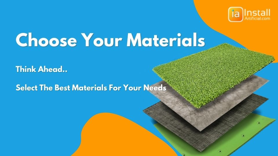 choose the right materials for putting green installation