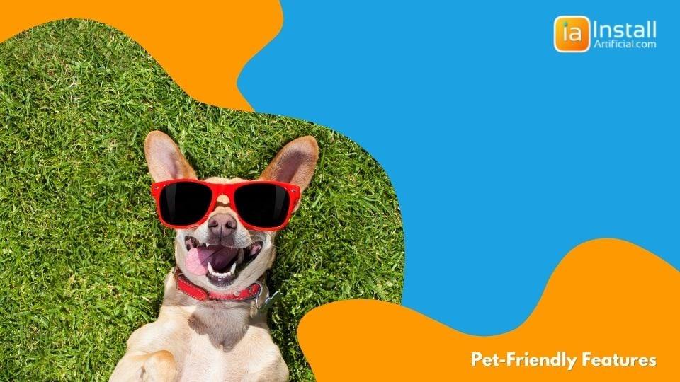 artificial grass installation pet friendly features